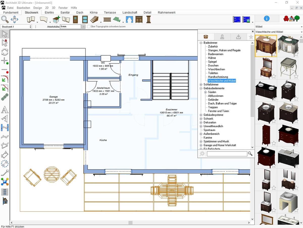 architekt 3d x9 ultimate g nstig online kaufen. Black Bedroom Furniture Sets. Home Design Ideas