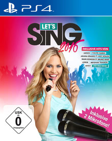 Verpackung von Let's Sing 2016 + 2 Mikrofone [PS4]