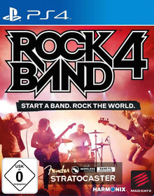 Verpackung von Rock Band 4 Wireless Fender Stratocaster Software Bundle (schwarz) [PS4]