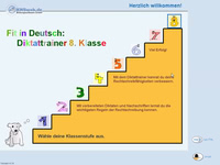 Bild von Fit in Deutsch - Diktattrainer - Klasse 8 [PC-Software]