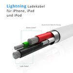 Bild von Lightning Kabel | 1 m | Apple iPhone | Ladekabel / Datenkabel | PVC | Weiß [MULTIPLATFORM]