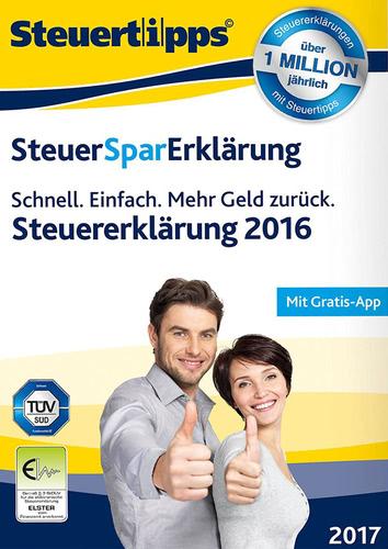 Verpackung von SteuerSparErklärung 2017 (für Steuerjahr 2016) [PC-Software]