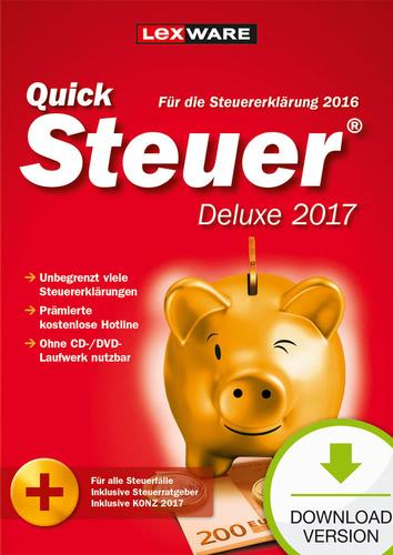 Verpackung von QuickSteuer Deluxe 2017 (für Steuerjahr 2016) [PC-Software]