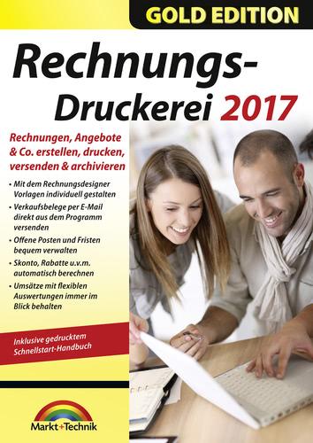 Verpackung von Markt+Technik Rechnungsdruckerei 2017 Gold Edition [PC-Software]
