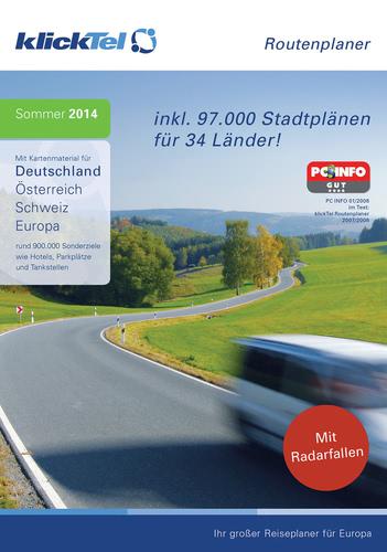 Verpackung von klickTel Routenplaner Sommer 2014 [PC-Software]