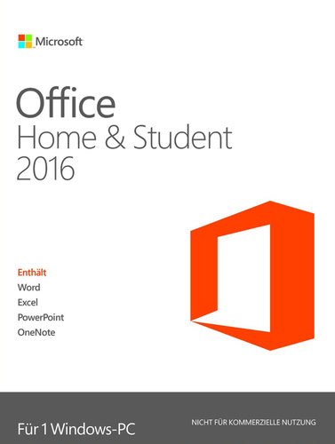Verpackung von Microsoft Office Home and Student 2016 [PC-Software]