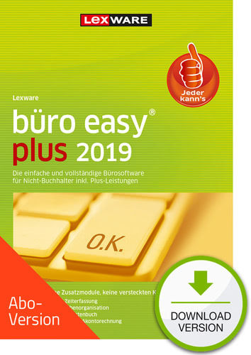 Verpackung von Lexware büro easy plus 2019 Download - Abo Version [PC-Software]
