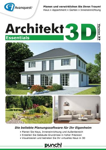 Verpackung von Architekt 3D X9 Essentials [PC-Software]