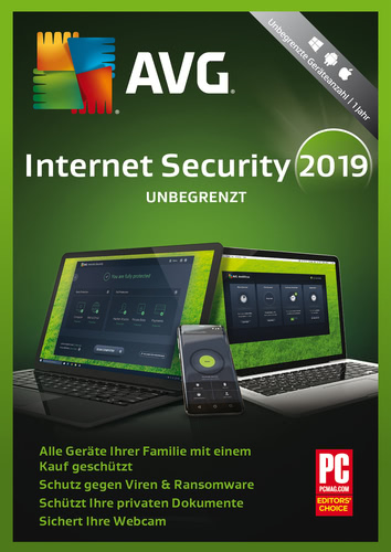 AVG Internet Security (2019) – Unbegrenzte Geräte / 1 Jahr (Download), Multi
