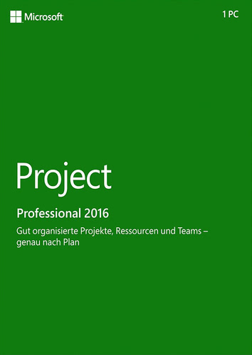 Project Professional 2016 (Product Key Card ohne Datenträger)