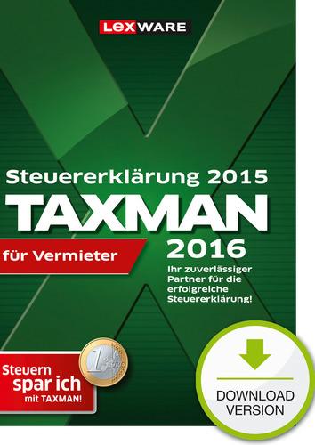 Verpackung von TAXMAN 2016 für Vermieter (für Steuerjahr 2015) [PC-Software]