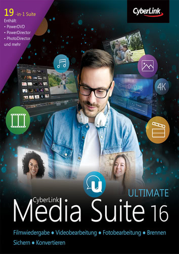 Verpackung von CyberLink Media Suite 16 Ultimate [PC-Software]