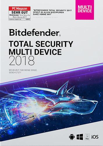 Verpackung von BitDefender Total Security Multi-Device 2018 5 Geräte / 24 Monate [MULTIPLATFORM]