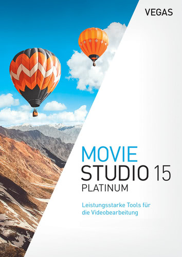 Verpackung von Vegas Movie Studio 15 Platinum [PC-Software]