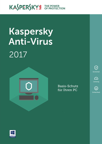 Verpackung von Kaspersky Anti-Virus 2017 - 1 User 12 Monate [PC-Software]
