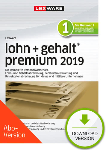 lohn+gehalt premium 2019 Download – Abo Version (Download), PC