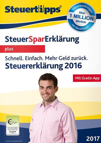Verpackung von SteuerSparErklärung plus 2017 (für Steuerjahr 2016) [Mac-Software]