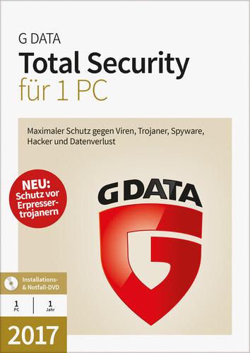 Verpackung von G Data Total Security 2017 - 1 Benutzer - 12 Monate [PC-Software]