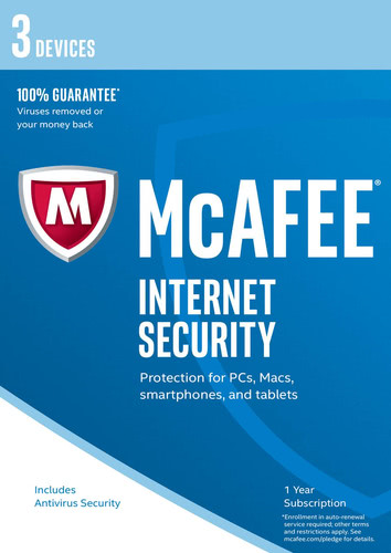 Packaging by McAfee Internet Security 2017 3 Devices / 12 Months [PC-software]
