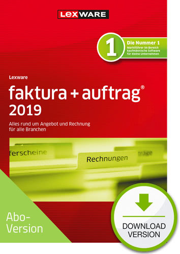 faktura + auftrag 2019 Download – Abo Version (Download), PC