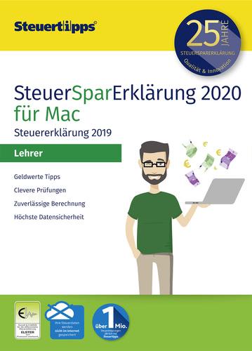 Verpackung von SteuerSparErklärung 2020 Lehrer für Steuerjahr 2019 (MAC) [Mac-Software]