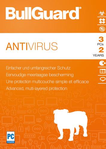 Verpackung von BullGuard Antivirus 2018 3 PCs 24 Monate [PC-Software]