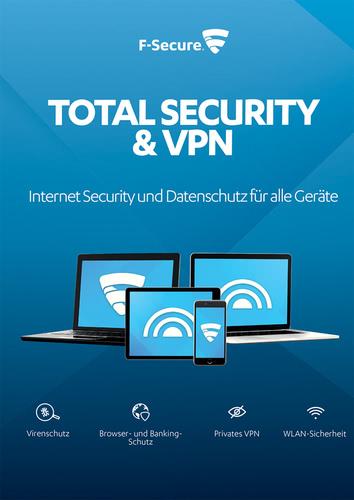 Verpackung von F-Secure Total Security und VPN 2018 5 Geräte / 12 Monate [MULTIPLATFORM]