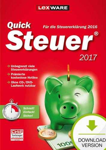 Verpackung von QuickSteuer 2017 (für Steuerjahr 2016) [PC-Software]