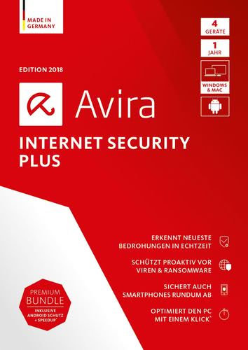 Avira Internet Security Plus 2018 4 Geräte / 12 Monate