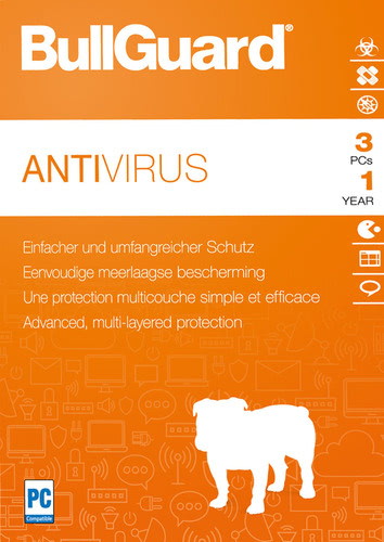 BullGuard Antivirus 2018 3 PCs 12 Monate, ESD (Download) (PC)