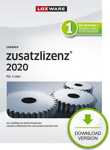 Verpackung von Lexware zusatzlizenz 2020 für 2 User Download Jahresversion (365-Tage) [PC-Software]