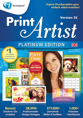 Print Artist Platinum 25 (Englisch) (Download), PC