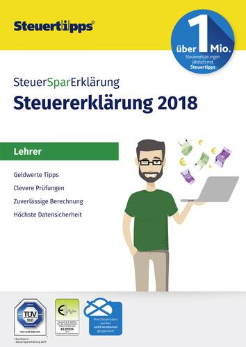 Verpackung von SteuerSparErklärung Lehrer 2019 (für Steuerjahr 2018) [PC-Software]