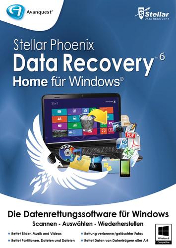 Verpackung von Stellar Phoenix Data Recovery 6 Home [PC-Software]