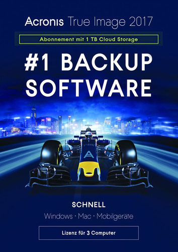 Verpackung von Acronis True Image 2017 Subscription - 1-Jahres-Abonnement für 3 Computer + 1 TB Acronis Cloud Storage [MULTIPLATFORM]