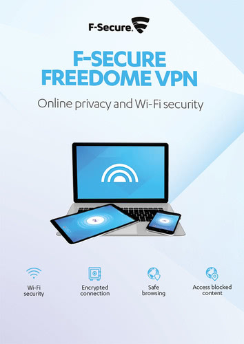 Verpackung von F-Secure Freedome VPN 2018 5 Geräte / 12 Monate [PC-Software]
