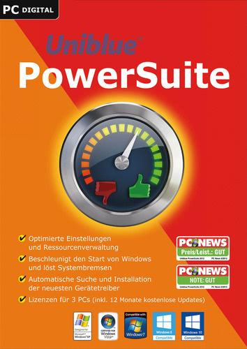 Verpackung von Uniblue PowerSuite 2017 [PC-Software]