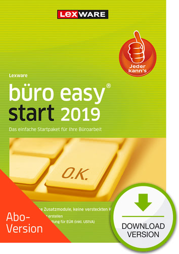 büro easy start 2019 Download – Abo Version (Download), PC