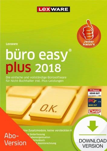 Verpackung von Lexware büro easy plus 2018 - Abo-Version [PC-Software]