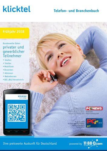 Verpackung von klickTel Telefon- und Branchenbuch Frühjahr 2018 [PC-Software]