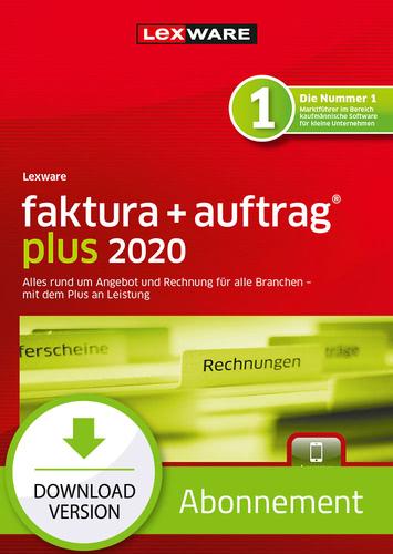 Verpackung von Lexware faktura + auftrag plus 2020 Download - Abo Version [PC-Software]