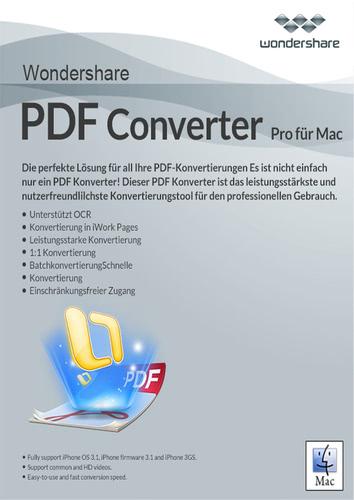 Verpackung von Wondershare PDF Converter Pro - lebenslange Lizenz [Mac-Software]