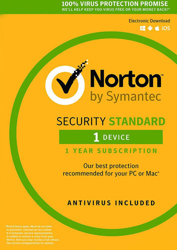 Packaging by Symantec Norton Security 3.0 (2017) Standard - 1 Device / 12 Months (EU license) [PC-software]