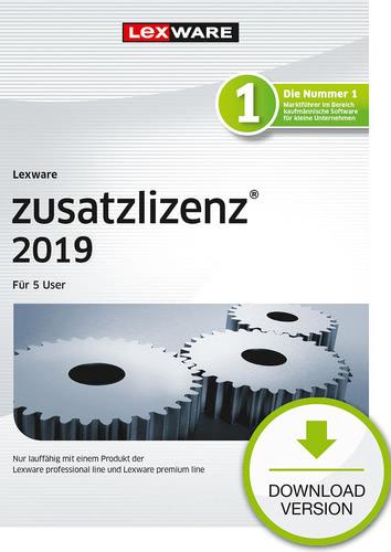 Verpackung von Lexware zusatzlizenz 2019 für 5 User [PC-Software]
