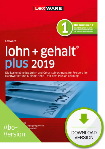 lohn+gehalt plus 2019 Download – Abo Version (Download), PC