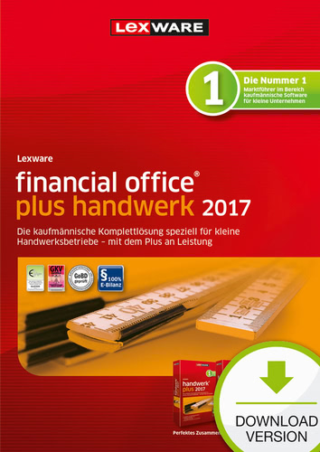 Lexware financial office plus handwerk 2017 Jahresversion (365-Tage)