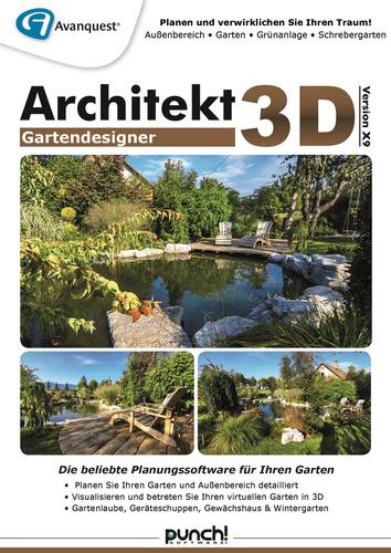 Verpackung von Architekt 3D X9 Gartendesigner [PC-Software]