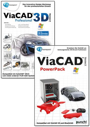 Verpackung von ViaCAD 3D 9 Professional + Power Pack (Windows) [PC-Software]