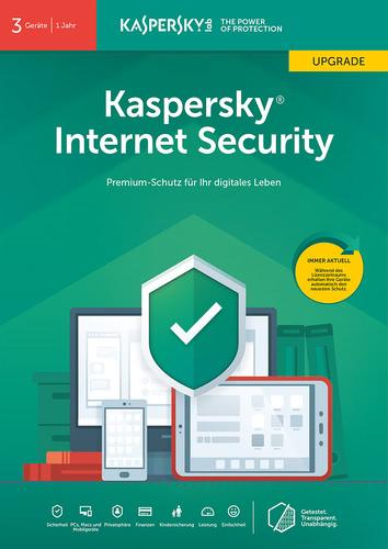 Verpackung von Kaspersky Internet Security (2019) Upgrade - 3 Geräte / 12 Monate [MULTIPLATFORM]