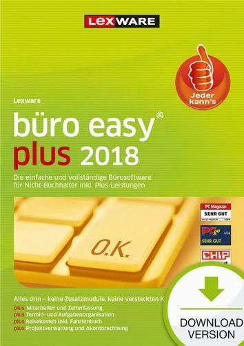 Verpackung von Lexware büro easy plus 2018 Jahresversion 365-Tage [PC-Software]